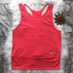 Nike Dri-Fit Strappy Neon Pink Racerback